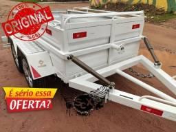 Carretinha 2 eixos escamoteável, a mais vendida em 2020!
