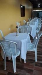 Toalhas e cobre manchas para mesas plástica 4 cadeiras