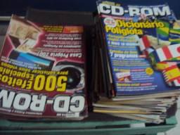 Lote com revista cd rom (cem revistas)