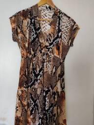 Vestido estampa de cobra