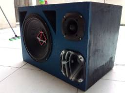 """Caixa de som com alto falante de 12""""Bomper upgrade corneta selênio d200"""