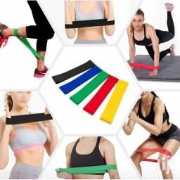 Kit 5 Faixas Elásticas Thera Band Com 5 Níveis Fisioterapia.
