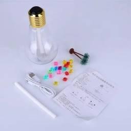 Título do anúncio: Aromatizador Difusor Aromas Ambiente Lâmpada Led Usb 400ml  por apenas R$ 39,99 ?