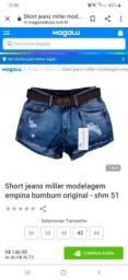 2 Shorts Miller 38 usado mais bem conservado