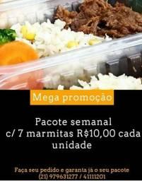 Marmitas fit Promoção  apenas 12,00 pacote semanal