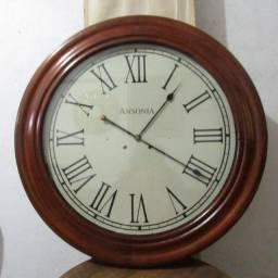 Antigo relógio ansonia olho de boi grandão diâmetro 80 cm