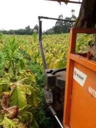 Máquina Budny auxiliar pra colheita de fumo hidro 4x4, 5linhas com kit de pulverização