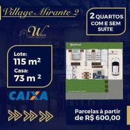 Village mirante 2 , casa de 2/4 c suite em Goianira