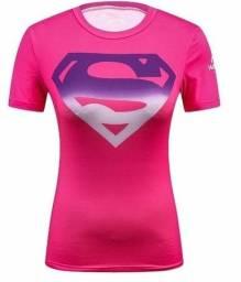 Camisa Compressão Feminina Impressão 3D