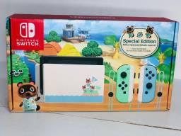 Nintendo Switch 32 GB - Edição Animal Crossing - Cor: verde/azul pastel