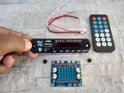 Kit Placa USB Bluetooth + Amplificador 30+30W Dois Canais