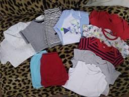 Lote roupa bebê / natura / kit talher / prato bowl / prendedor chupeta