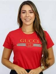 Camiseta T-Shirt Feminina Gucci Vermelha