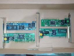 Placa de rede 10/100 (Kit com 4 placas) Leia a descrição