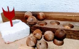 Vendas de bolas de madeiras