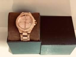 Relógio Michael Kors MK Rose Swarovski Original