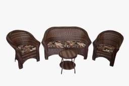 Título do anúncio: Conjunto de sofá bali Riviera em fibra sintética