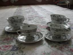 Conjunto de 2 Xícaras Bodas de Prata em Porcela Schmidt