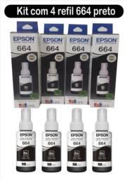Tinta 664 Epson kit com 4 Preta de 70ml original