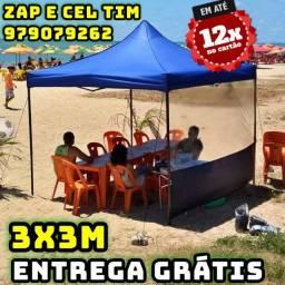 Tenda 3x3m Sanfonada