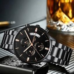 Relógio Nibosi 2309 Black Gold Original