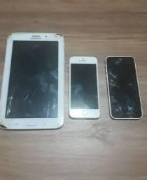 Tablet Samsung e iPhone * peças