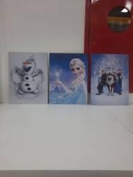 3 quadros Frozen - desapego
