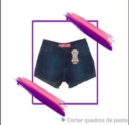 Bermudas Feminina Jeans Barra Desfiada