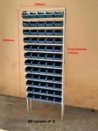Estantes prateleiras gaveteiro armário com caixas plasticas