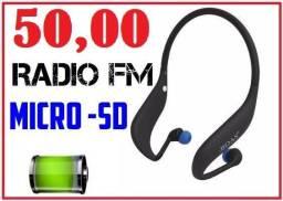 Fone Ouvido Sem Fio Fm Rádio Cartão Micro Sd Boas Lc-701