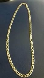 Troco cordão de prata banhado a ouro por um ar condicionado