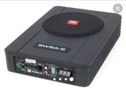 "Caixa Amplificada Ativa JBL Slim 8"" SW8A-S + 2 Canais Amplificados"