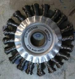 Escova circular trançadas rotativa de aço peças