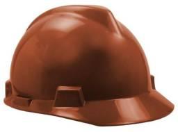 20 capacetes marrom MSA V-Guard sem carneira