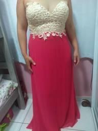 Vendo Vestido Na Cor Pink com Bege