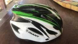 Capacete Ciclista Giant Orion tamanho Único verde/branco/preto