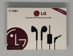 Fone de Ouvido LG com Fio e Microfone F-1081 Produto Novo na Caixa