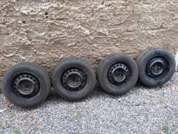 Rodas aro 14 nova pneus 80%