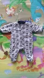 Kit Macacão Infantil Bebê 3-6 Meses