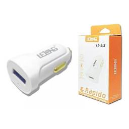 CARREGADOR VEICULAR TURBO - USB - LELONG - LE-513<br><br>