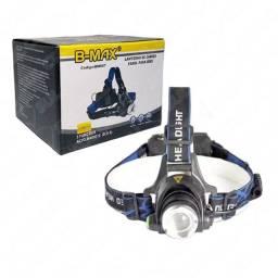 Lanterna De Cabeça Recarregável Com 3 Modos de Iluminação