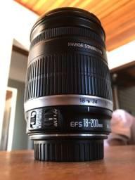 Lente Canon 18-200mm 3.5 Estabilizada - LEIA