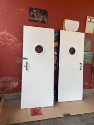 Duas portas acústicas para studio, isolamento, ensaios