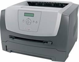 Impressora Laser monocromática lexmark E352DN, funcionando com toner