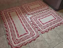 Jogo de  tapete de cozinha 3 peças