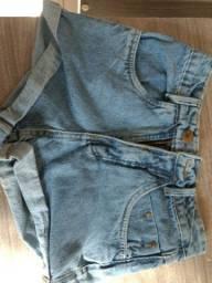 shorts novos, saia