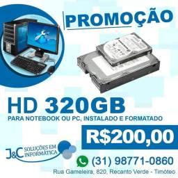 HD de notebook ou computador instalado
