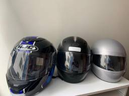 3 capacetes 250 reais
