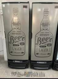 Cervejeira 400 litros Gelopar porta inox nova a pronta entrega - lucas