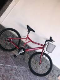 Bicicleta Aro 24 com 21 Marchas Vermelha
